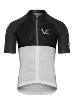 VELcredo 20180828 bialo czarna meskie fr 247x354 - Koszulka kolarska męska ULTRANERO