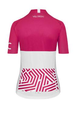 VELcredo 20180828 bialo czerwona damska bk 247x374 - Koszulka kolarska damska ULTRARUBINE