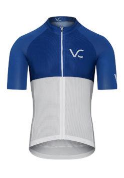 VELcredo 20180828 bialo niebieskie meskie fr 247x354 - Koszulka kolarska męska - ULTRABLUE