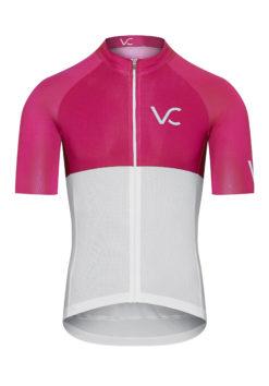 VELcredo 20180828 bialo czerwona meskie fr 247x354 - Koszulka kolarska męska ULTRARUBINE