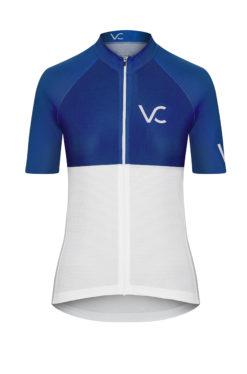 VELcredo 20180828 bialo niebieska damska fr 247x374 - Koszulka kolarska damska ULTRABLUE