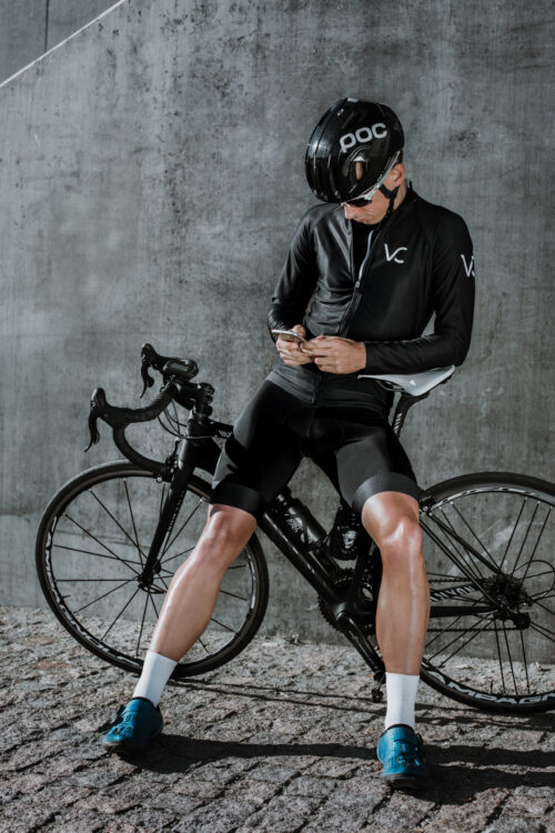 spodenki kolarskie męskie na szelkach Velcredo