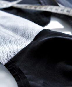 spodenki kolarskie Evolution Velcredo z nowymi szelkami produkcja odzieży