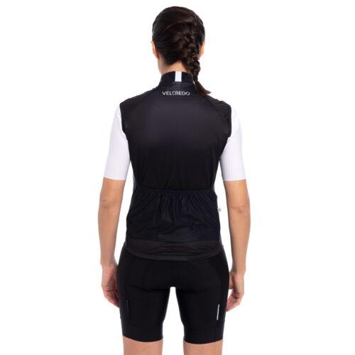 Kamizelka kolarska damska BLACK Velcredo