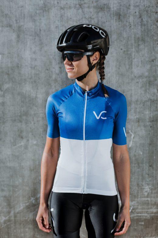 Koszulka rowerowa damska od Velcredo 520x780 - JERSEY WOMAN ULTRABLUE