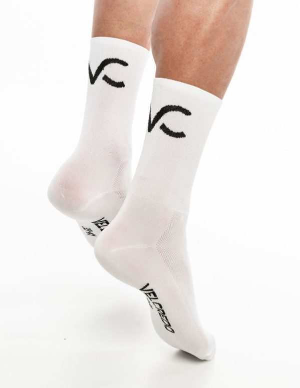 Skarpetki kolarskie białe Velcredo