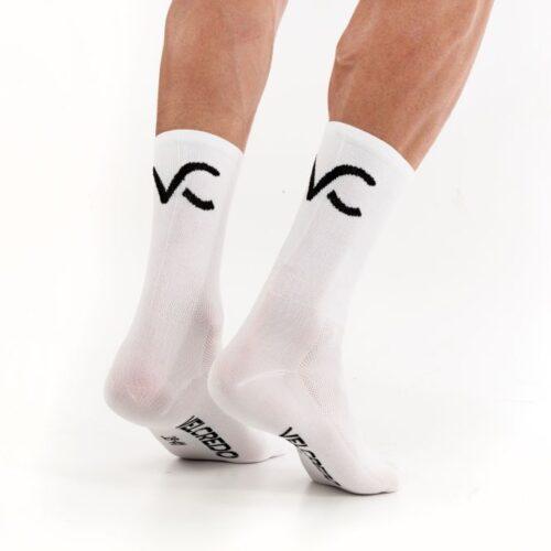 Skarpetki rowerowe białe Velcredo