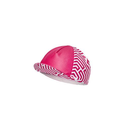 czapka kolarska z daszkiem Rubine Velcredo 520x520 - Czapeczka kolarska damska ULTRARUBINE