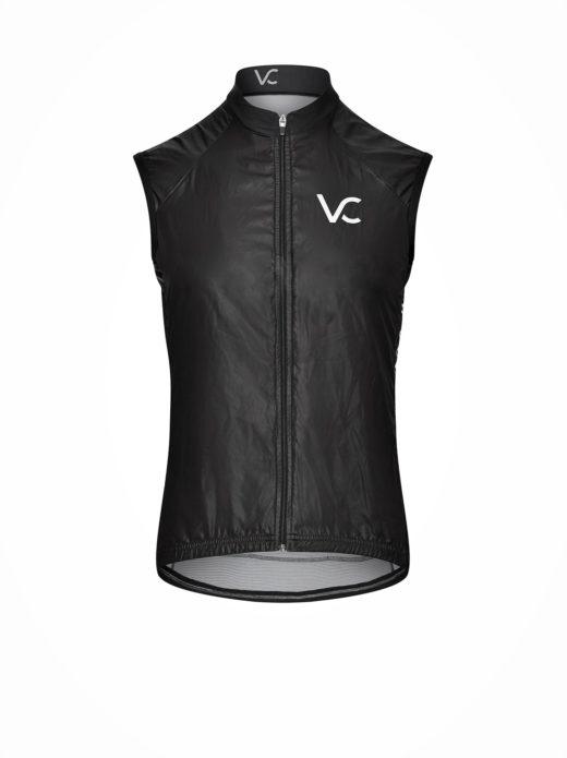 kamizelka rowerowa windstopper Velcredo 520x695 - Kamizelka kolarska damska BLACK