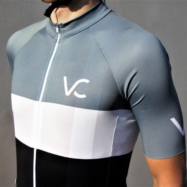 koszulka kolarska męska Evolution Silver Velcredo