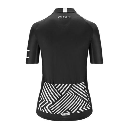 koszulka kolarska damska BLACK Velcredo tył