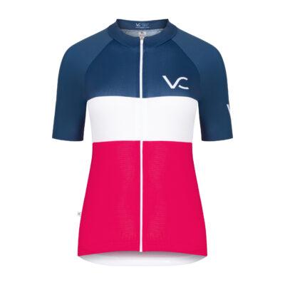koszulka kolarska damska Evolution Navy Ruby Velcredo