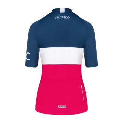 koszulka kolarska damska Evolution Navy Ruby tył Velcredo scaled 400x400 - VELCREDO