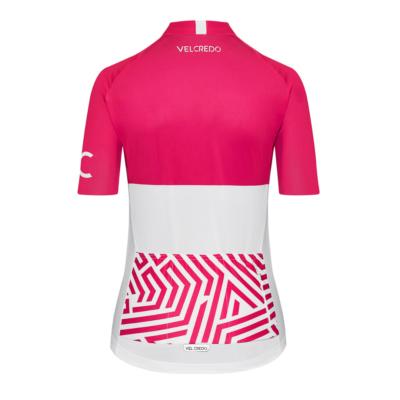 koszulka kolarska damska Ultrarubine Velcredo tyl