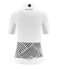 koszulka kolarska damska WHITE Velcredo tył
