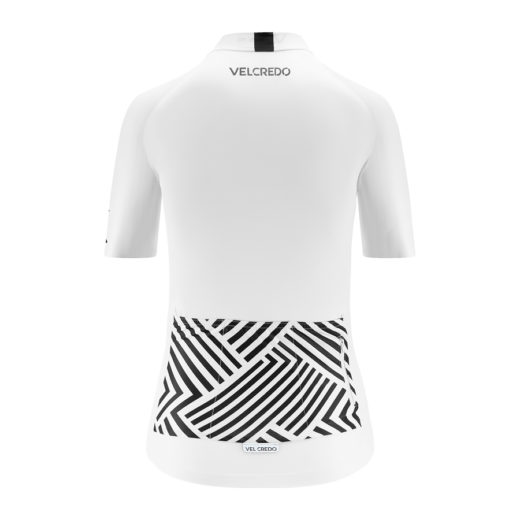 koszulka kolarska damska WHITE Velcredo tył 520x520 - JERSEY WOMAN WHITE