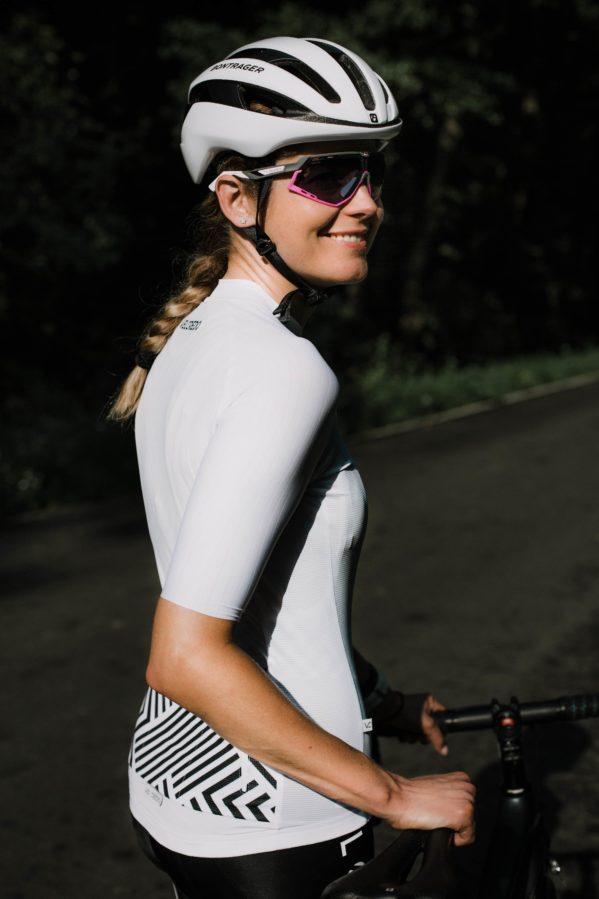 Koszulka kolarska damska White Velcredo