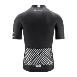 koszulka kolarska męska BLACK Velcredo tył 247x247 - Koszulka kolarska męska BLACK