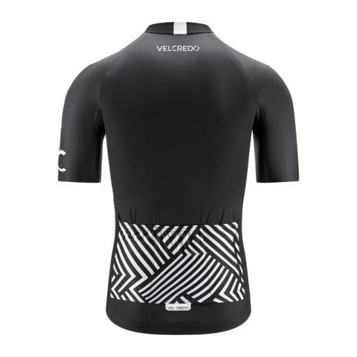 koszulka kolarska męska BLACK Velcredo tył 520x520 - Koszulka kolarska męska BLACK
