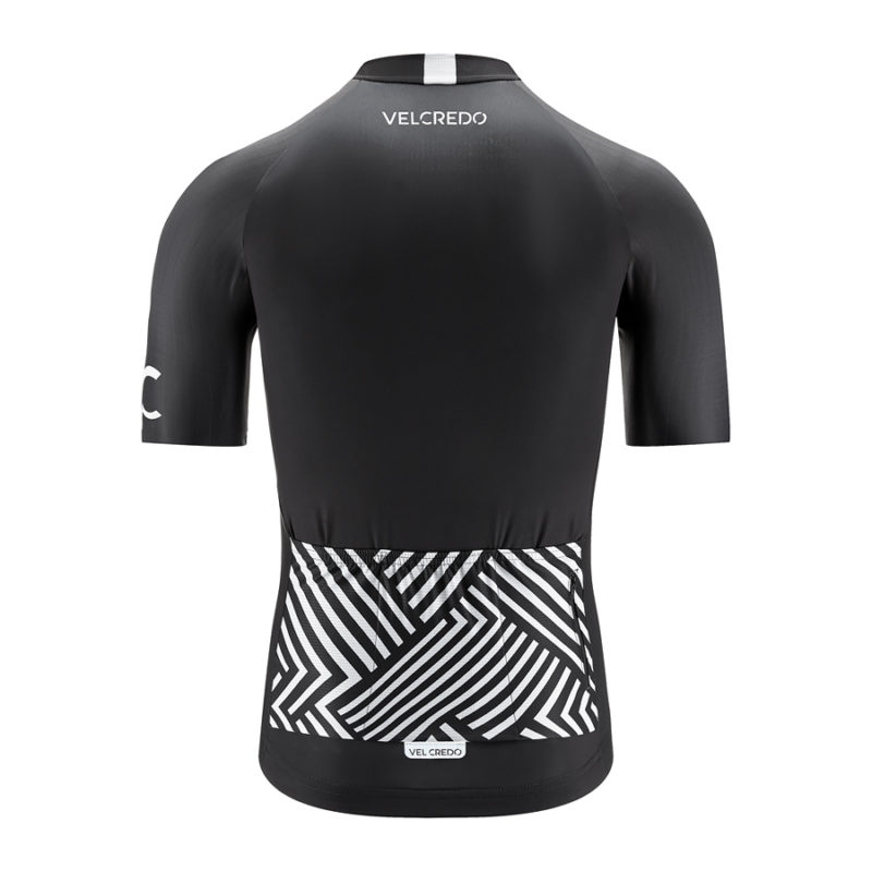koszulka kolarska męska BLACK Velcredo tył 800x800 - Koszulka Kolarska