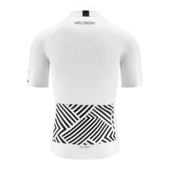 koszulka kolarska męska WHITE Velcredo tył 247x247 - Koszulka kolarska męska WHITE