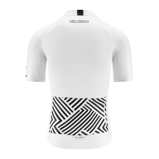 koszulka kolarska męska WHITE Velcredo tył 520x520 - JERSEY WHITE