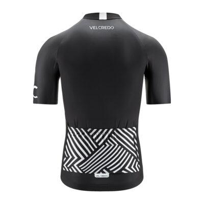 koszulka kolarska męska BLACK Velcredo tył