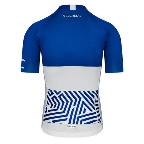 koszulka kolarska meska cycling jersey Ultrablue Velcredo tyl