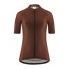 CYCLING JERSEY WOMAN PUREBROWN VELCREDO
