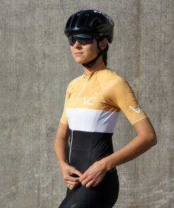 koszulka kolarska damska Evolution Gold Velcredo