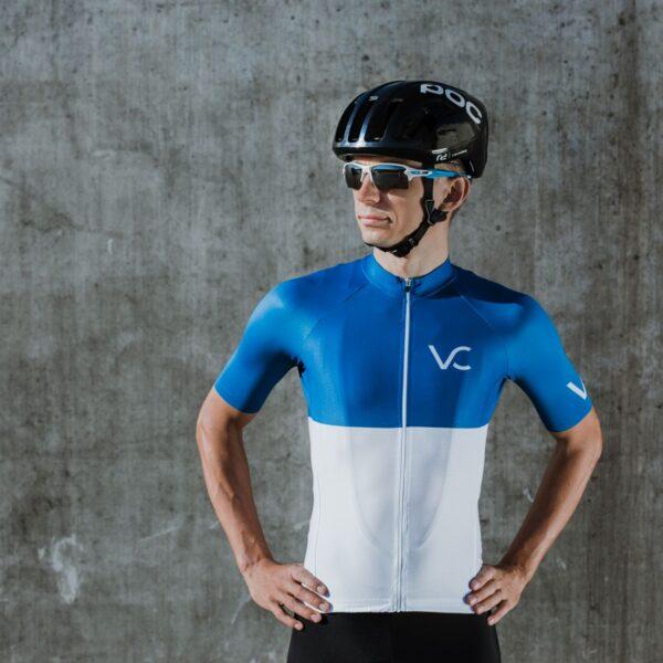 Koszulka kolarska męska ultrablue Velcredo