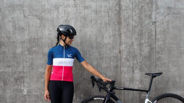 Koszulka kolarska damska EVOLUTION NAVYRUBY