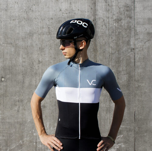 koszulka kolarska męska Evolution Silver VC Velcredo